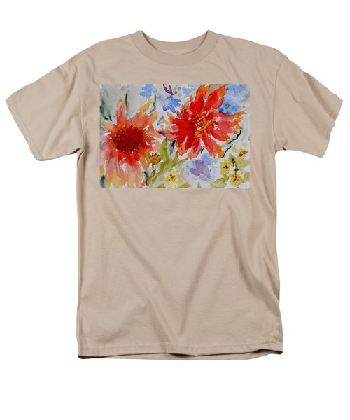 Men's T-Shirt  (Regular Fit) featuring the painting Jann's Gaillardia by Beverley Harper Tinsley