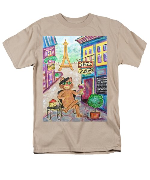 Men's T-Shirt  (Regular Fit) featuring the painting Jazz Cat by Diane Pape