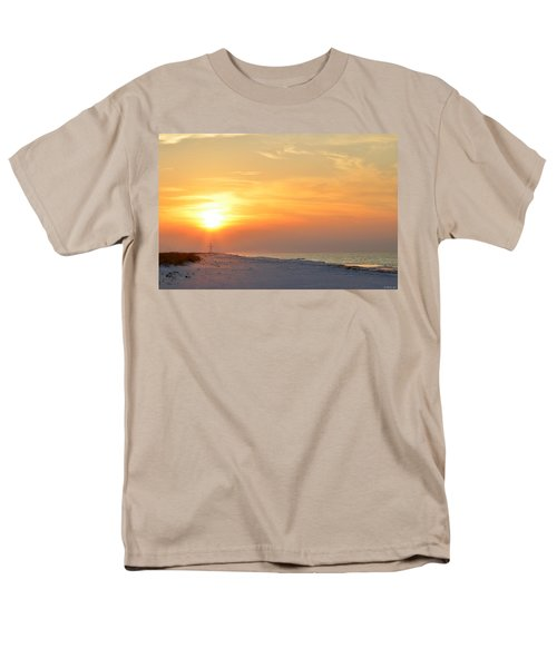 Jesus Rising On Easter Morning On Navarre Beach Men's T-Shirt  (Regular Fit) by Jeff at JSJ Photography