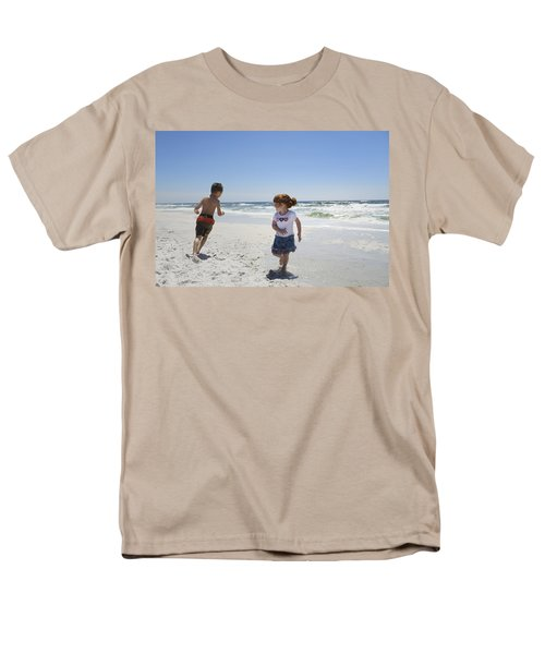 Joyful Play Of Children Men's T-Shirt  (Regular Fit) by Charles Beeler