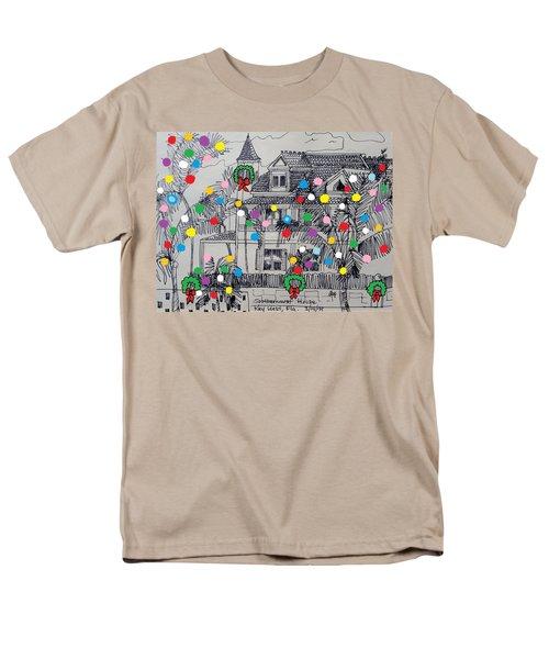 Key West Christmas Men's T-Shirt  (Regular Fit) by Diane Pape