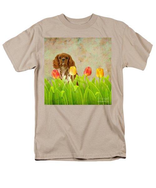 King Charles Cavalier Spaniel Men's T-Shirt  (Regular Fit) by Liane Wright