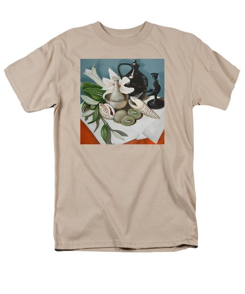 Kiwifruit Men's T-Shirt  (Regular Fit) by Helen Syron