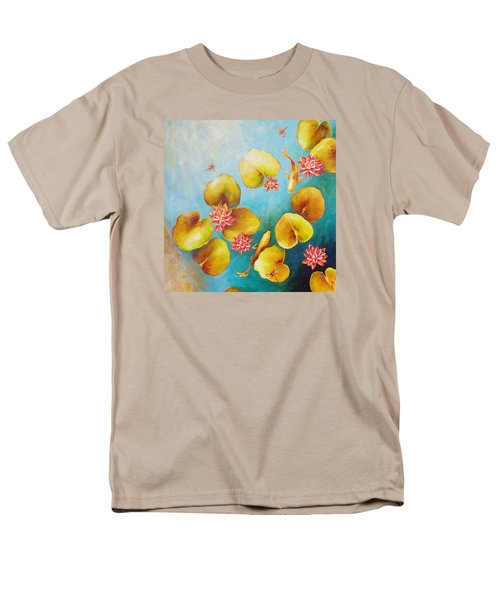 Men's T-Shirt  (Regular Fit) featuring the painting Koi Pond by Dina Dargo