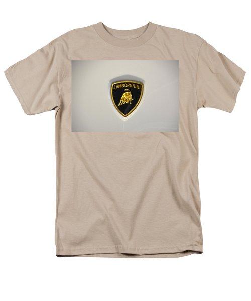 Lamborghini Badge Men's T-Shirt  (Regular Fit)