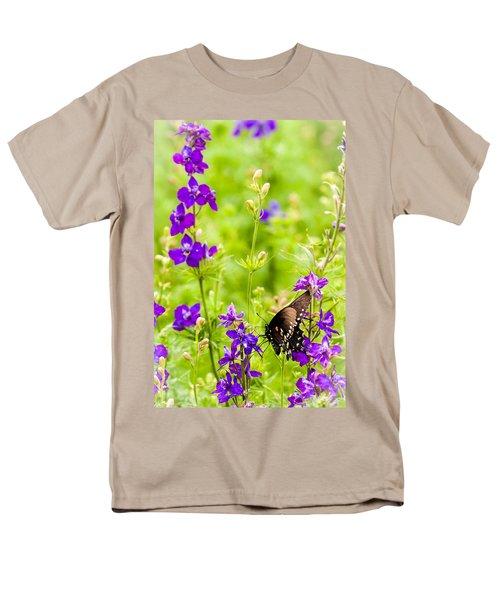 Larkspur Visitor Men's T-Shirt  (Regular Fit) by Melinda Ledsome