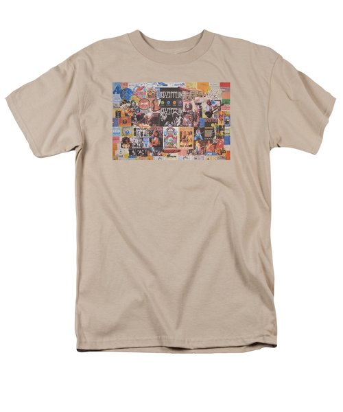 Led Zeppelin Years Collage Men's T-Shirt  (Regular Fit) by Donna Wilson