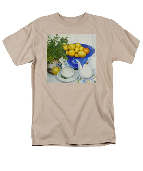 Lemon Tea Men's T-Shirt  (Regular Fit) by Helen Syron