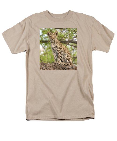 Leopard Cub Gaze Men's T-Shirt  (Regular Fit) by Tom Wurl