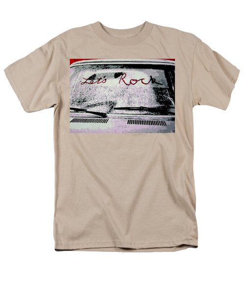 Men's T-Shirt  (Regular Fit) featuring the painting Lets Rock by Luis Ludzska