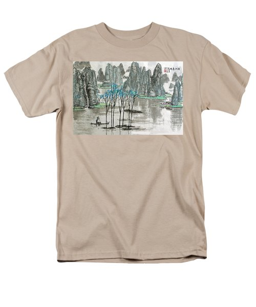 Men's T-Shirt  (Regular Fit) featuring the photograph Li River In Spring by Yufeng Wang