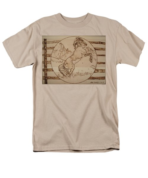 Wild Horse Men's T-Shirt  (Regular Fit) by Sean Connolly