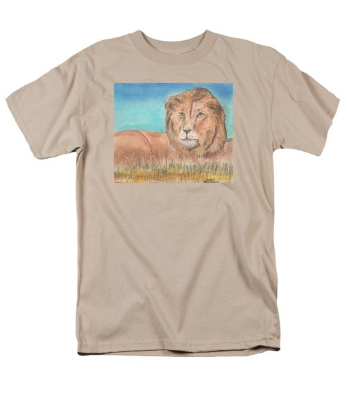 Men's T-Shirt  (Regular Fit) featuring the pastel Lion by David Jackson