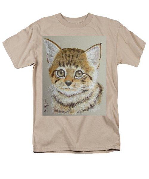 Little Kitty Men's T-Shirt  (Regular Fit) by Janet Garcia
