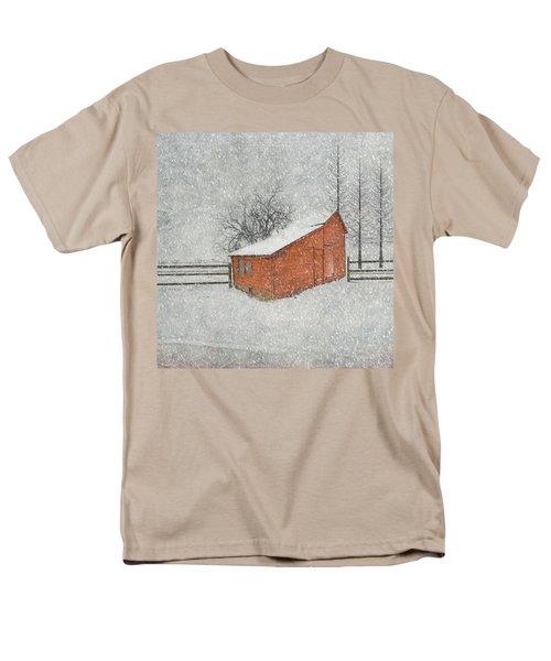 Little Red Barn Men's T-Shirt  (Regular Fit) by Juli Scalzi