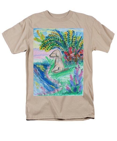 Men's T-Shirt  (Regular Fit) featuring the painting Little Sweet Pea by Diane Pape