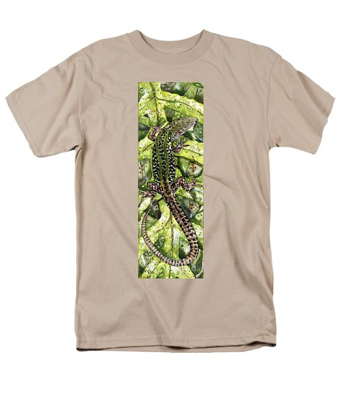 Lizard In Green Nature - Elena Yakubovich Men's T-Shirt  (Regular Fit) by Elena Yakubovich