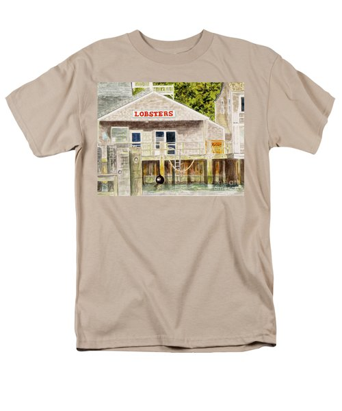 Men's T-Shirt  (Regular Fit) featuring the painting Lobster Shack by Carol Flagg