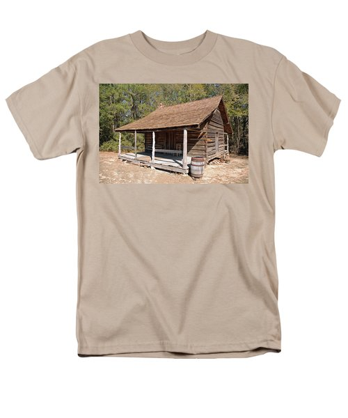 Men's T-Shirt  (Regular Fit) featuring the photograph Log Cabin by Charles Beeler