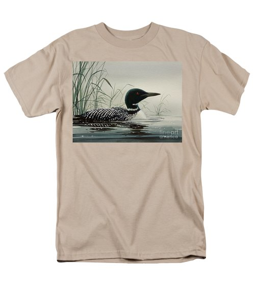 Loon Near The Shore Men's T-Shirt  (Regular Fit) by James Williamson