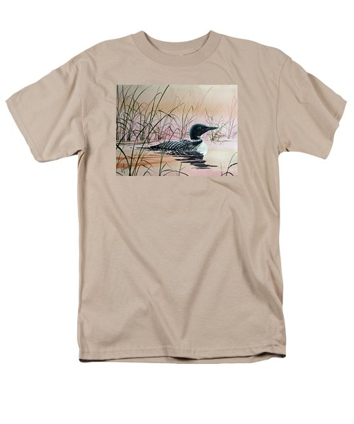 Loon Sunset Men's T-Shirt  (Regular Fit) by James Williamson