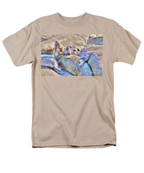 Love Hug - San Simeon California Men's T-Shirt  (Regular Fit)