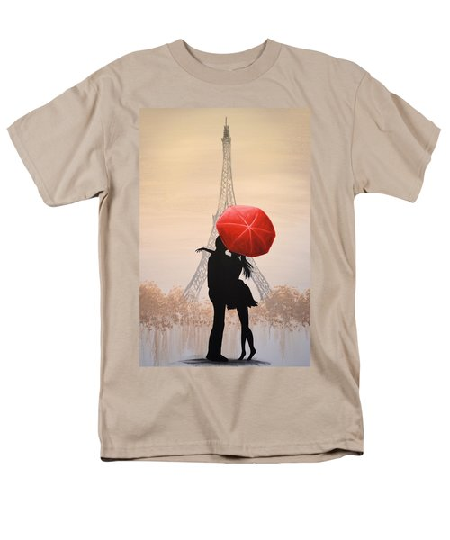 Men's T-Shirt  (Regular Fit) featuring the painting Love In Paris by Amy Giacomelli