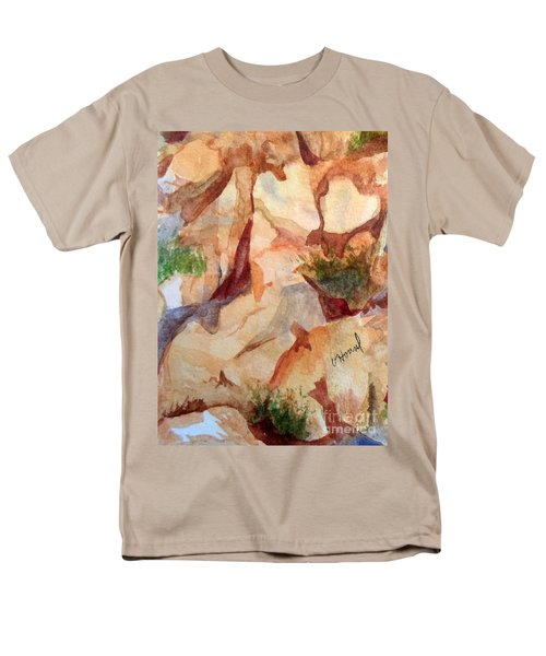 Love In The Rocks Medjugorje 2 Men's T-Shirt  (Regular Fit) by Vicki  Housel