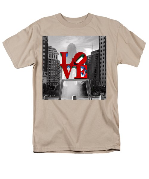 Love Is Always Black And White Square Men's T-Shirt  (Regular Fit) by Paul Ward