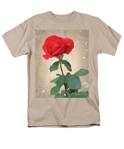 Love Is Like A Red Red Rose Men's T-Shirt  (Regular Fit) by Janette Boyd