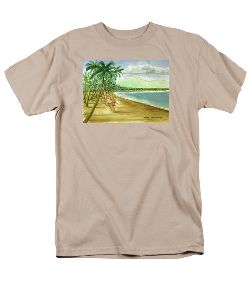 Luquillo Beach And El Yunque Puerto Rico Men's T-Shirt  (Regular Fit) by Frank Hunter