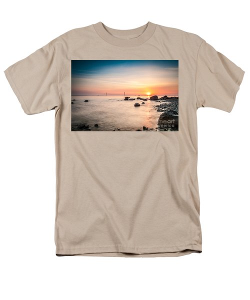 Men's T-Shirt  (Regular Fit) featuring the photograph Mackinac Sunrise by Larry Carr