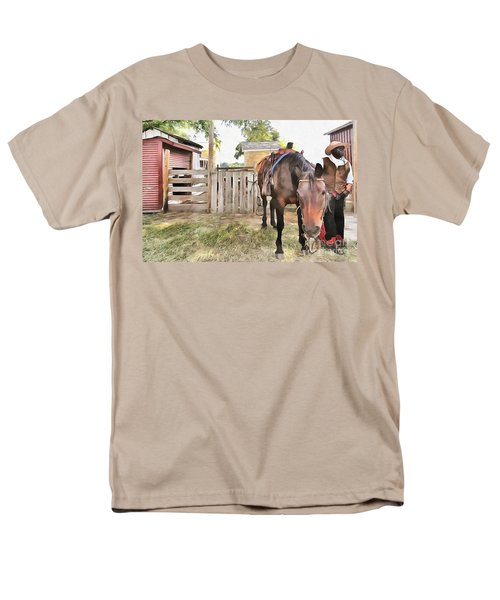 Mahaffie Stagecoach Stop And Farm Men's T-Shirt  (Regular Fit) by Liane Wright