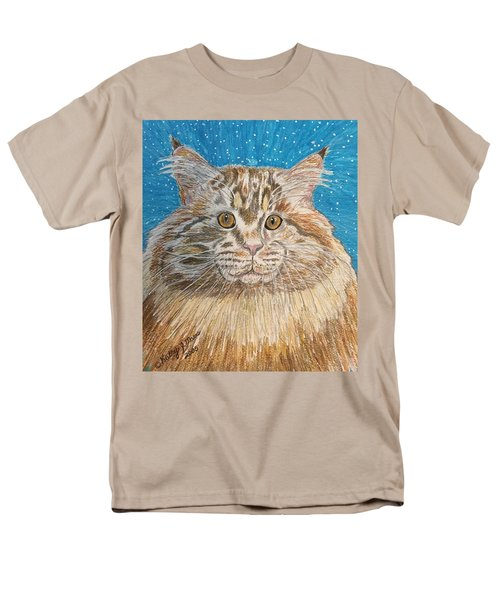 Maine Coon Cat Men's T-Shirt  (Regular Fit) by Kathy Marrs Chandler