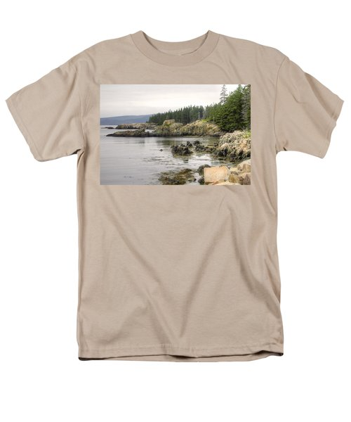 Maine's Beautiful Rocky Shore Men's T-Shirt  (Regular Fit) by Denyse Duhaime