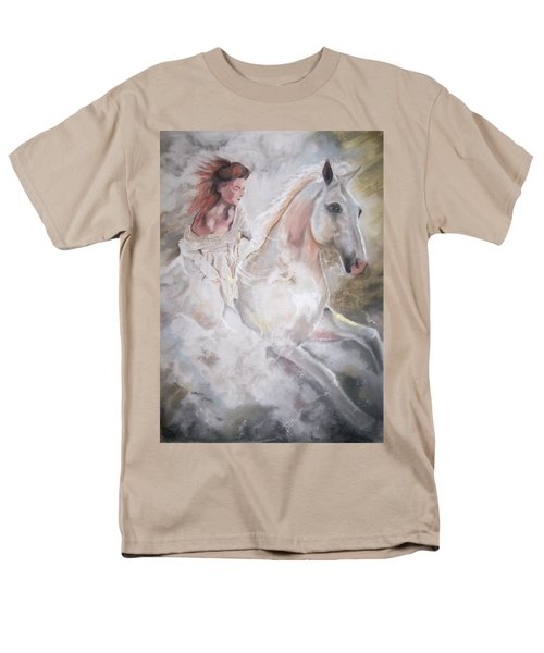 Men's T-Shirt  (Regular Fit) featuring the pastel Majestic Flow by Peter Suhocke