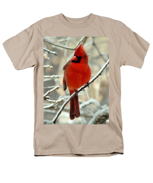 Men's T-Shirt  (Regular Fit) featuring the photograph Male Cardinal  by Janette Boyd