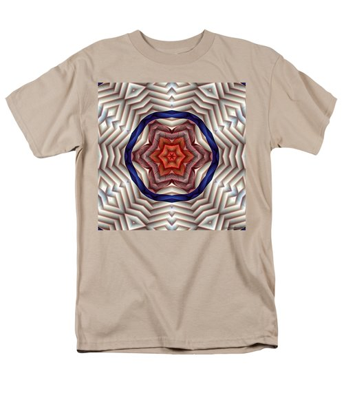 Men's T-Shirt  (Regular Fit) featuring the digital art Mandala 12 by Terry Reynoldson