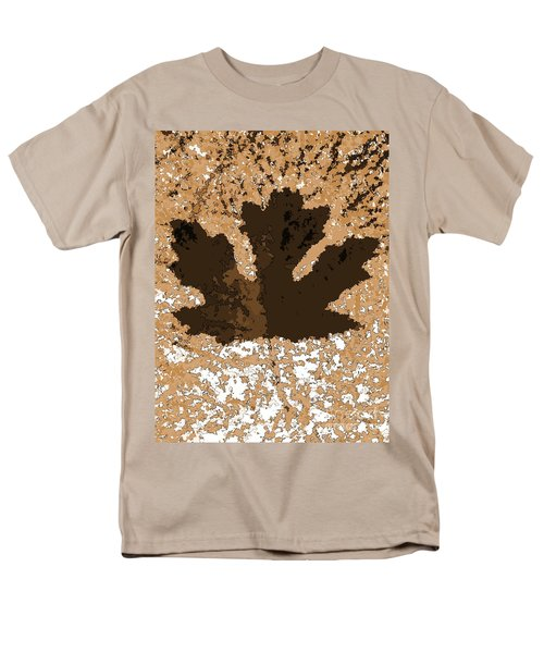 Maple Leaf Brown  Hues Men's T-Shirt  (Regular Fit)