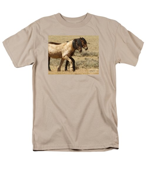 Mares In Step-signed-#9139 Men's T-Shirt  (Regular Fit) by J L Woody Wooden
