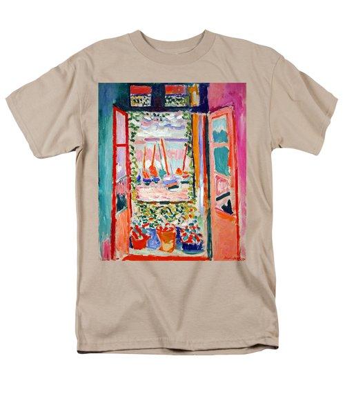 Matisse's Open Window At Collioure Men's T-Shirt  (Regular Fit) by Cora Wandel