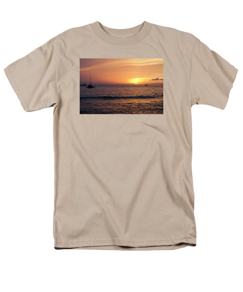 Men's T-Shirt  (Regular Fit) featuring the photograph Maui Sunset by Randy Bayne