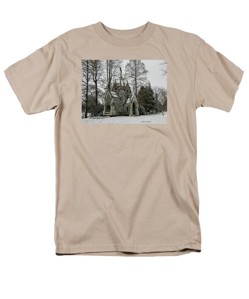Men's T-Shirt  (Regular Fit) featuring the photograph Mausoleum In Winter by Kathy Barney