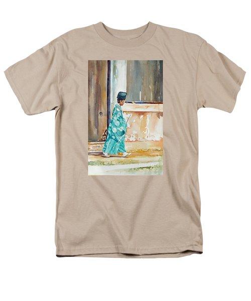 Meditation  Men's T-Shirt  (Regular Fit) by Mary Haley-Rocks