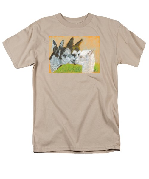 Men's T-Shirt  (Regular Fit) featuring the drawing Meeting Uncle Al by Carol Wisniewski