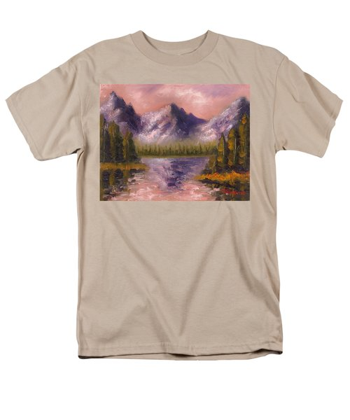 Men's T-Shirt  (Regular Fit) featuring the painting Mental Mountain by Jason Williamson
