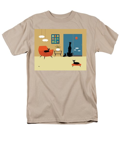 Mid Century Dogs And Cats Men's T-Shirt  (Regular Fit)