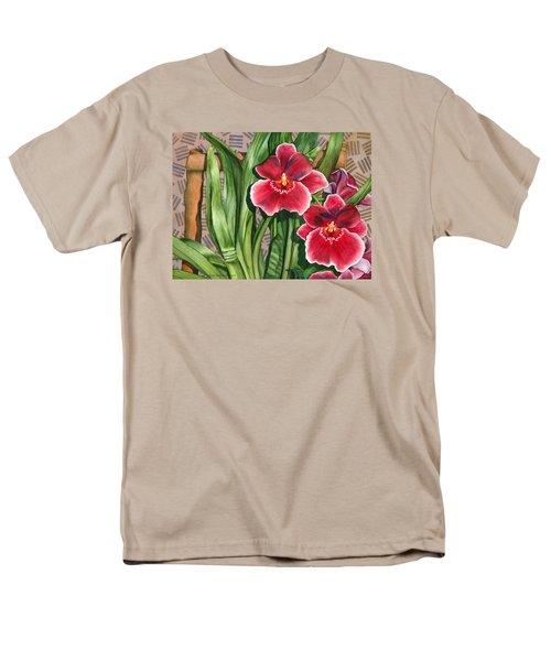 Miltonia Orchids Men's T-Shirt  (Regular Fit) by Lynda Hoffman-Snodgrass