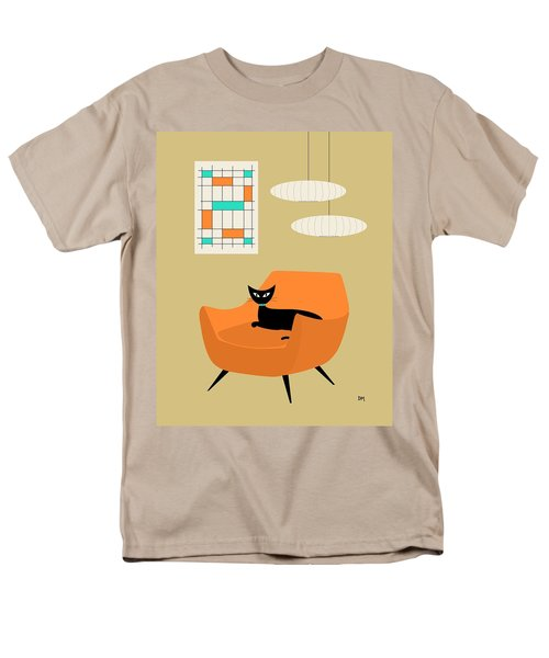 Mini Abstract With Orange Chair Men's T-Shirt  (Regular Fit)