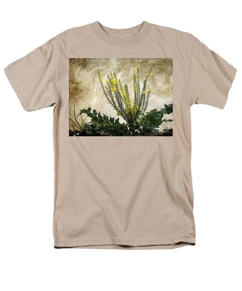 Men's T-Shirt  (Regular Fit) featuring the photograph Mission Wallflower by Ellen Cotton
